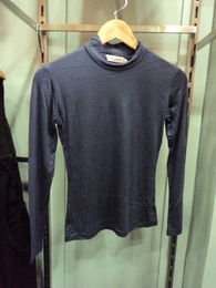 Navy High Neck Fitted top