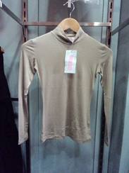 Mocha High Neck Fitted Top