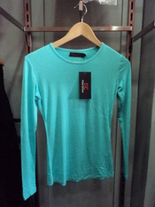 Aqua Blue Fitted Top